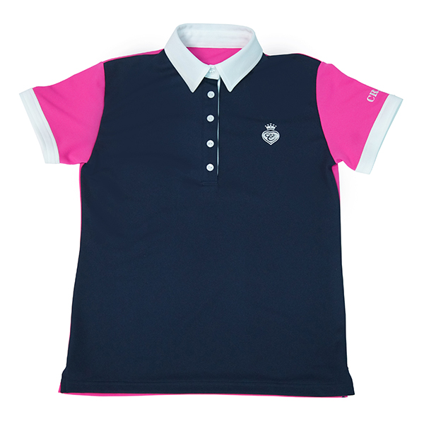 CRAZY LADIES` COOLMAX SWEET COLOR POLO (CRAZY レディスクールマックス スイートカラー ポロ)